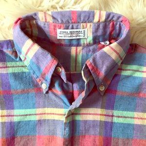 Men's vintage Indian Madras shirt